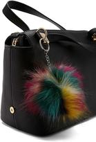 Forever 21 FOREVER 21+ Colorful Faux Fur Keychain