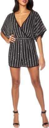 Lace & Beads Novale Sequin Stripe Romper