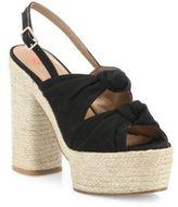 Castaner Abbey Knotted Canvas Espadrille Platform Sandals