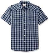 Lucky Brand Men's Short Sleeve Western Shirt