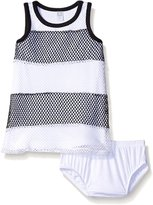 Amy Coe Baby Girls' Mesh Stripe Dress with Panty Set