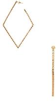 Paolo Costagli Brillante Rose Gold Diamond Shaped Hoop Earrings