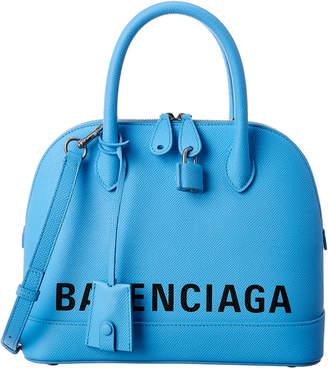 Balenciaga Ville Small Leather Top Handle Tote