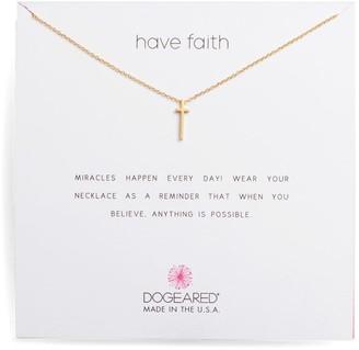 Dogeared Have Faith Long Cross Chain Necklace