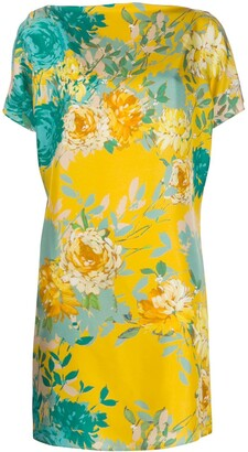 Gianluca Capannolo Floral-Print Silk Dress