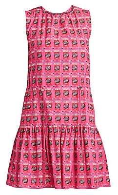 Kenzo Women's Printed Sleeveless Cotton Flare Dress