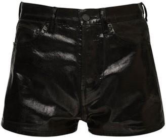 Saint Laurent Coated Cotton Shorts