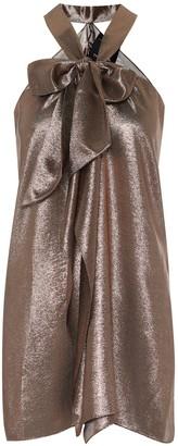 Roland Mouret Exclusive to Mytheresa Pontal metallic silk-blend top