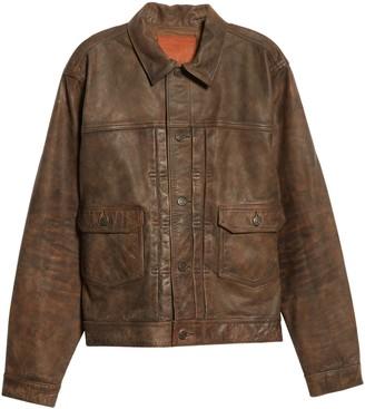Ralph Lauren RRL Dawson Buffalo Leather Jacket