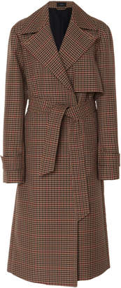 Joseph Chasa Belted Tweed Check Coat