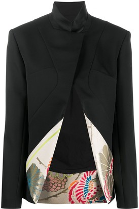 Haider Ackermann Floral Lined Fitted Blazer