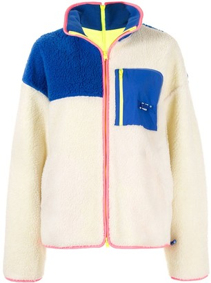 Ader Error Colour-Block Shearling Jumper