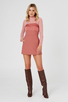 Finders Keepers LUPITA MINI DRESS Pink Terracotta