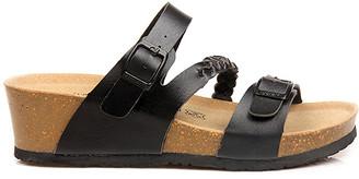 Maibulun Women's Sandals Plain - Plain Black Braid-Accent Wedge Sandal - Women