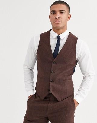 Harry Brown wedding tweed heritage slim fit suit vest