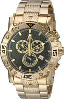 Jivago Men's 'Titan' Swiss Quartz Stainless Steel Casual Watch, Color:Gold-Toned (Model: JV9124XL)