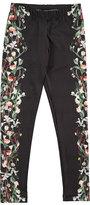 Molo Nikia Digi Flower Stripe Leggings, Black, Size 3-14