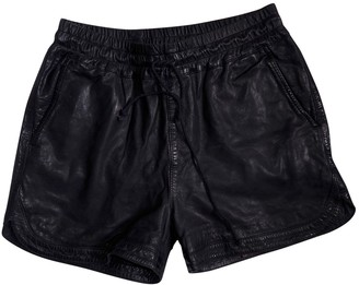 Swildens Blue Leather Shorts for Women