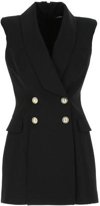 Balmain Double-Breasted Gilet Dress
