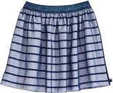 Tommy Hilfiger Mesh-Overlay Striped Skirt, Big Girls