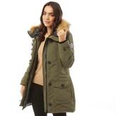 Thumbnail for your product : Brave Soul Womens Jacobs Faux Fur Parka Khaki
