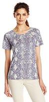 Calvin Klein Jeans Women's Short Sleeve Printed Raglan Slub Tee