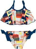 Floatimini Geometric Flounce Bikini Set