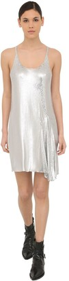 Paco Rabanne Flared Mini Mesh Tank Dress