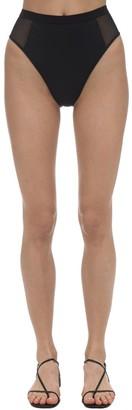 Stella McCartney Sporty High Waist Mesh Bikini Bottoms