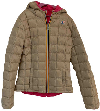 K-Way Beige Polyester Jackets & Coats