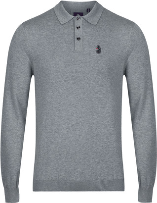 Luke 1977 Magnesium Knitted Polo Grey