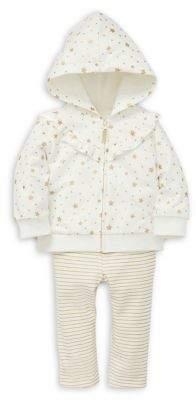 Little Me Baby Girl's Star-Print Cotton Hoodie, Shirt & Cotton-Blend Leggings Set