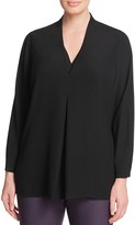NIC+ZOE Plus Kick Pleat Blouse