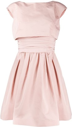 Paule Ka Layered Style Flared Dress