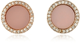 Michael Kors Heritage Rose Gold Stud Earrings w/Crystals