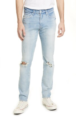 Ovadia Ripped Slim Sky Torn Jeans