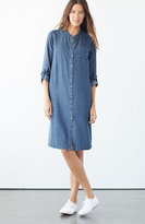 J. Jill Tencel® Indigo Tab-Sleeve Dress