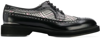 Alexander McQueen houndstooth check Derby shoes
