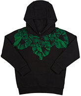 Marcelo Burlon County of Milan Snake-Graphic Hoodie-BLACK
