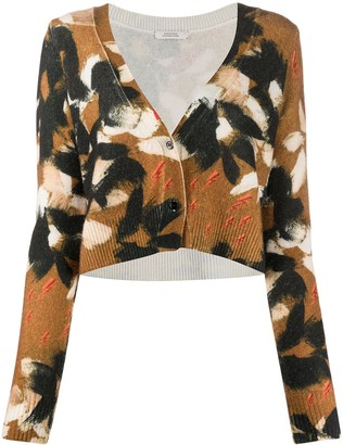 Dorothee Schumacher Graphic Knit Cropped Cardigan