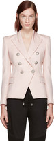 Balmain Pink Double-Breasted Blazer