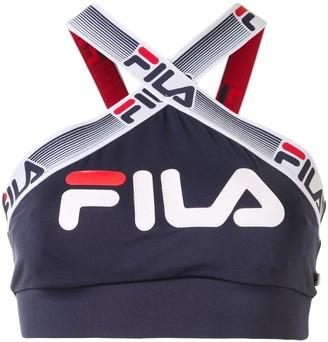Fila Halter Neck Logo Print Vest