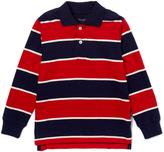 E-Land Kids Brick Red & Navy Stripe Polo - Toddler & Boys