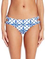 Bikini Lab Women's Tie-Dye Another Day Reversible Keyhole Hipster Bottom