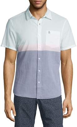 Original Penguin Colorblock Surf Short Sleeve Sport Shirt