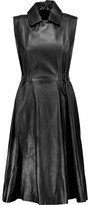 Acne Studios Levice Pleated Leather Dress