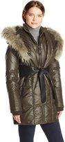 Rudsak Women's Sophie Down Coat with Leather Belt