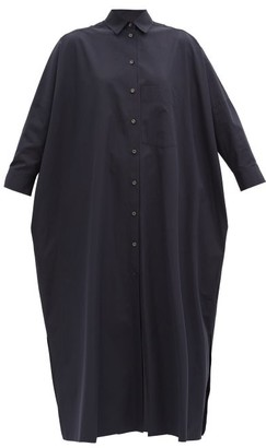 Jil Sander Nettie Cotton-poplin Shirt Dress - Navy