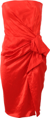 Lanvin Strapless Side Zip Dress
