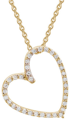 Diamond Select Cuts 14K 0.11 Ct. Tw. Diamond Open Heart Necklace